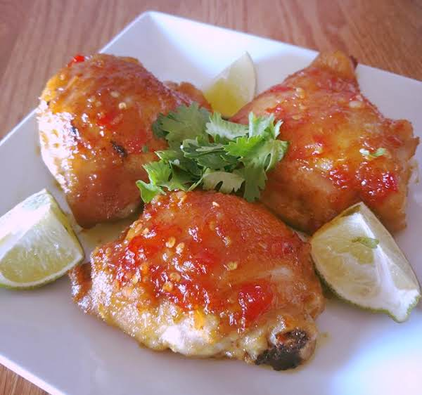 Coconut Curry Chicken Thighs W Sweet Chili Sauce