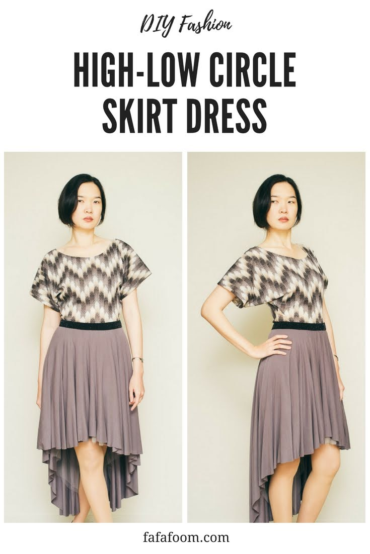 High-Low Circle Skirt Dress - DIY Fashion Garments | fafafoom.com