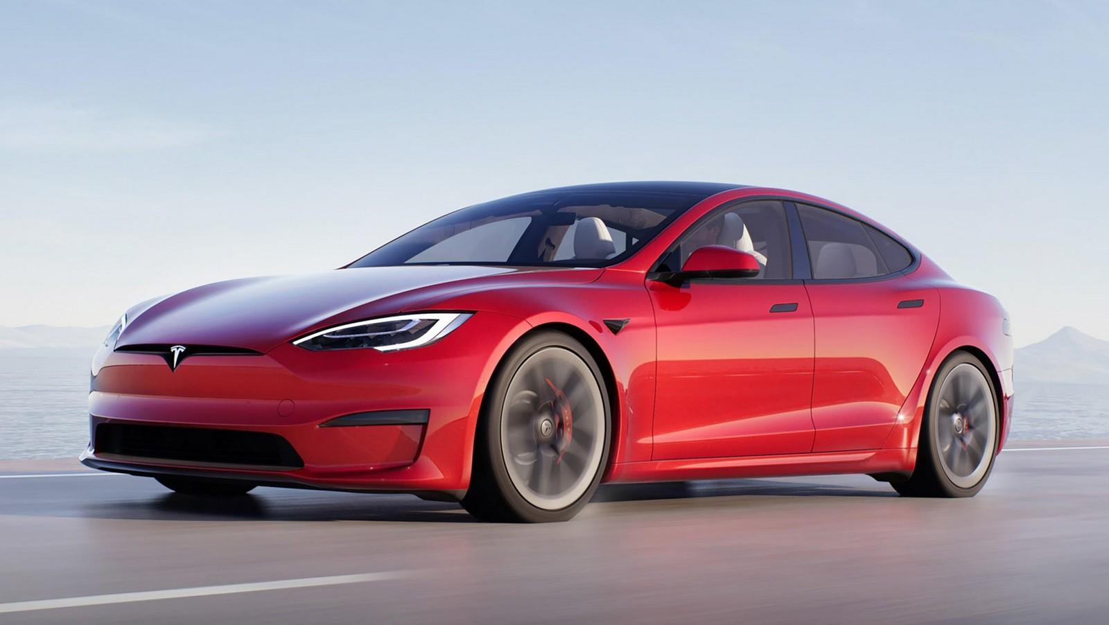 O desenho da carroçaria do Tesla Model S permite movimentos rápidos e com menor resistência do ar, tornando-o o carro de produção mais aerodinâmico do mundo. Tesla/Reprodução)