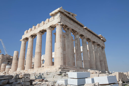 Construction began on the Parthenon in Athens in 447 B.C.