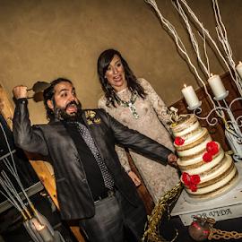 The Cake Must DIE by Matthew Chambers - Wedding Bride & Groom ( bride, groom, gothic, beauty, cake, wedding, funny )