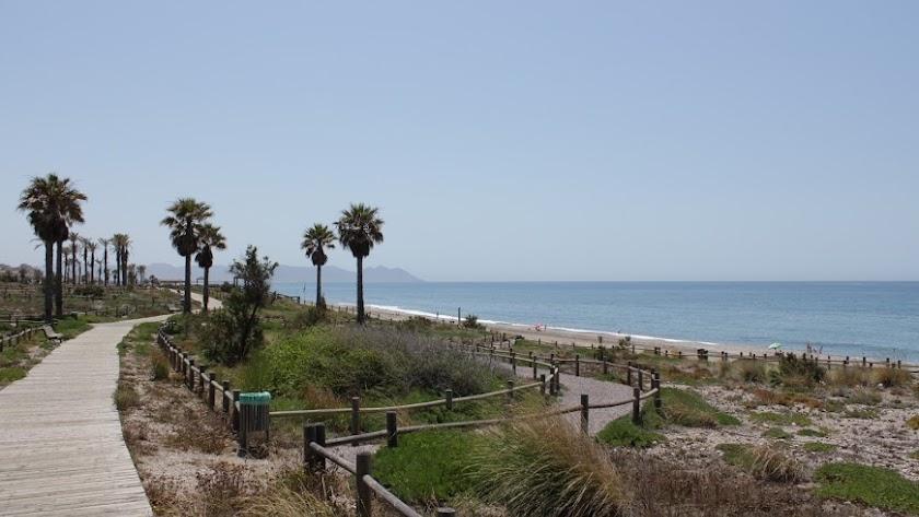Una de las playas de la zona en la que ha aparecido el cadáver.