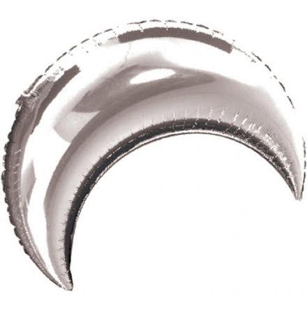 Folieballong - Halvmåne silver 89 cm