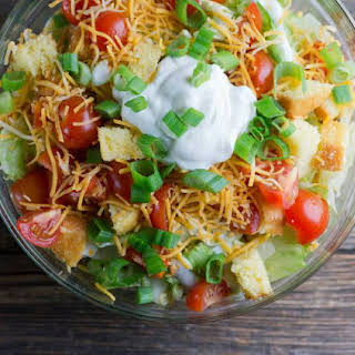 Taco Salad with Doritos .