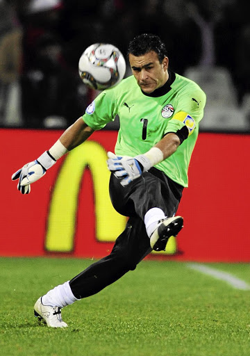 Essam El-Hadary (45) has been capped 157 times with the Egypt team.