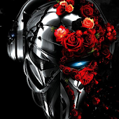 Electric robotic rose theme