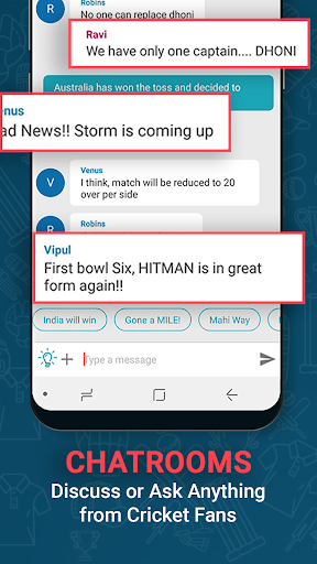 Cricnwin: Live Cricket Scores ,Play,Chat with Fans 5.31 screenshots 4