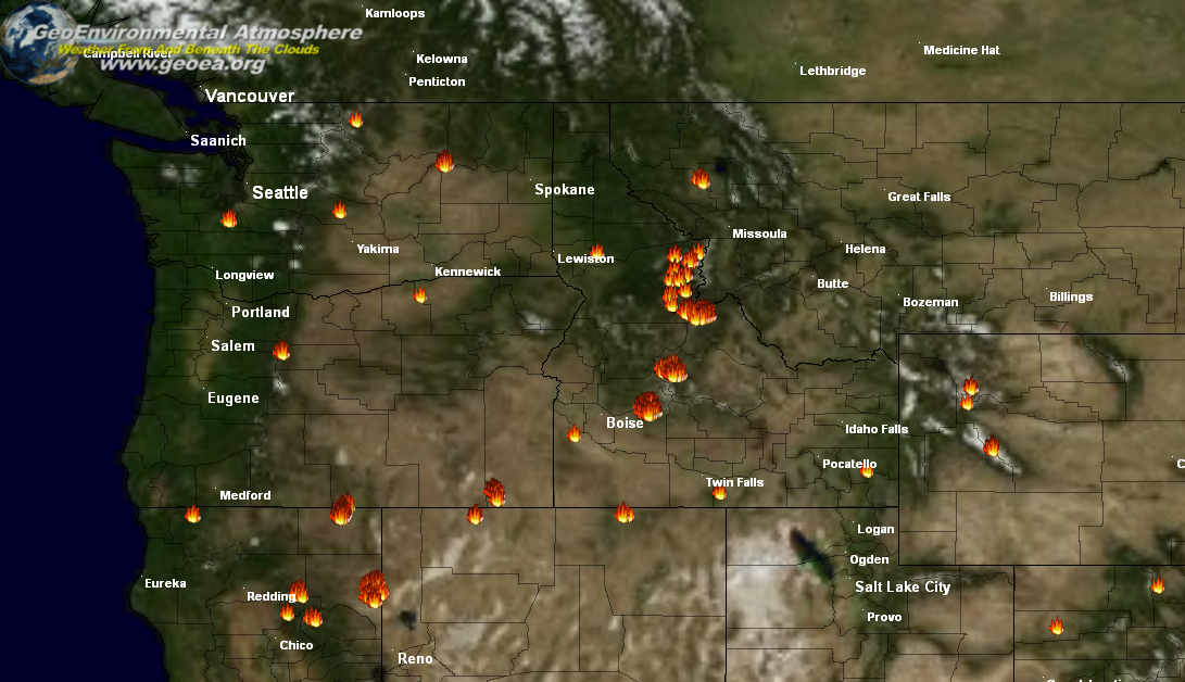 Pacific Northwest Fire Maps Www Sham Store