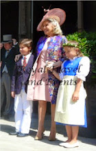 Photo: Princess Beatrice of France, Countess of Evreux with her granchildren Diego and Almudena Dailly