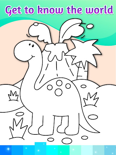 Coloring Pages Kids Games with Animation Effects - screenshot