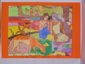 """Photo: Composición grupal Gauguin""""LaFelicidad"""" Alumnado 5º B"""