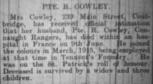 Richard  Cawley newspaper clipping