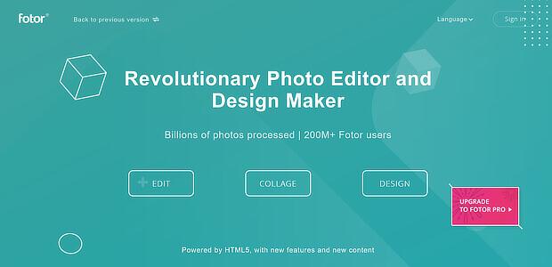 free content marketing tools - fotor