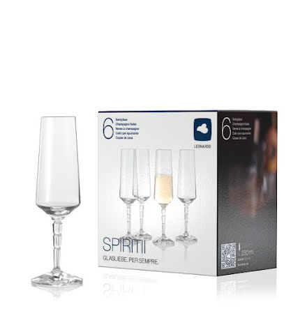 Champagneglas 230ml SPIRITII 6-pack