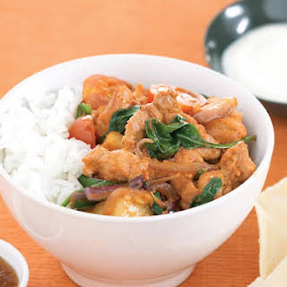 Tandoori Chicken Stir Fry with Spinach.