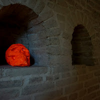 Orange skull di