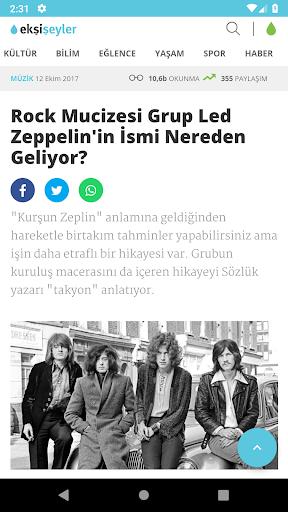 Ekşi Şeyler Mobil screenshot 2