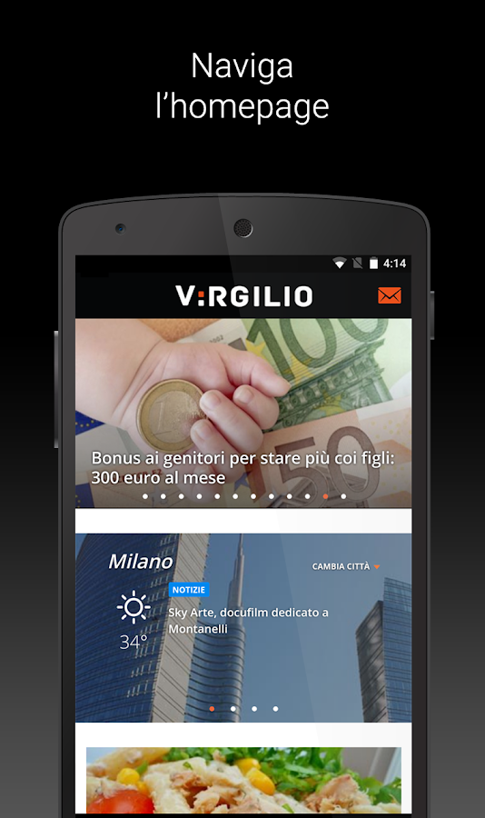 Virgilio- screenshot