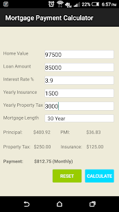 Accurate Mortgage Calculator screenshot