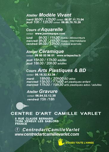ECOLE D'ART PLASTIQUE CAMILLE VARLET seine et marne -fontainebleau -AQUARELLE-GRAVURE-CERAMIQUE-BD MANGA