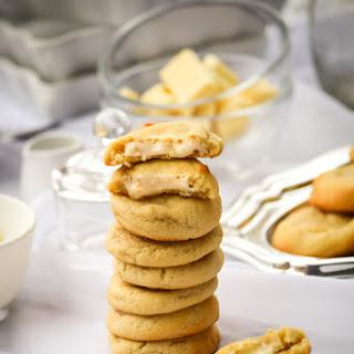 White Chocolate Almond Vanilla Truffle Cookies Recipe