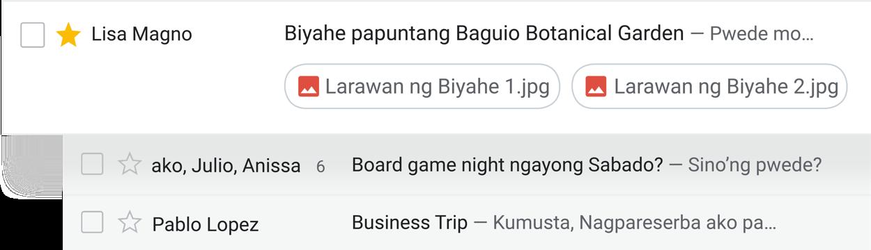 Gumawa ng mga bagay mula mismo sa inbox
