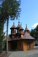 """Photo: Храмът на манастира """"Светител Гликерий Изповедник"""", недалеч от Слатиоара, построен на място, къдетосветителят се е укривал от гонителите."""