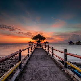 Colors of Kenji by Andy R Effendi - Landscapes Sunsets & Sunrises ( port, kenjeran, indonesia, sunrise, beach, landscape, surabaya )
