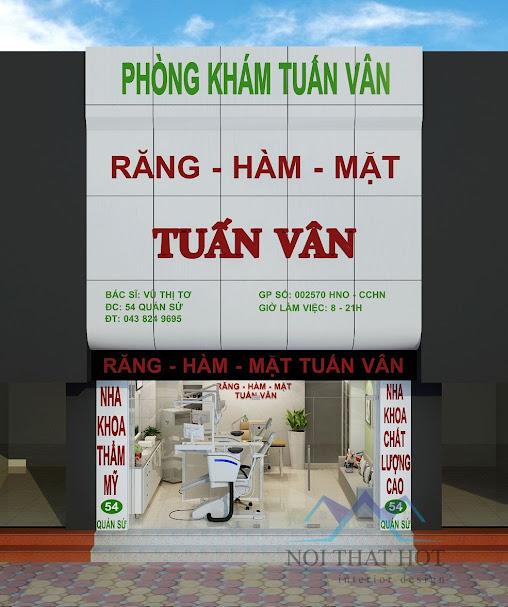 thiết kế phòng khám nha khoa Tuán Vân
