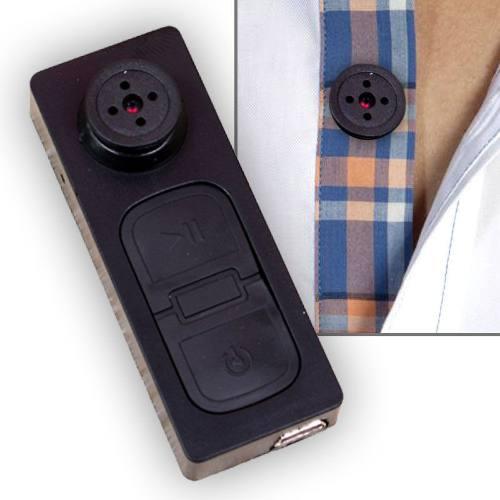 Cámara espía de botón