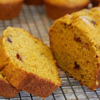Pumpkin Cranberry Nut Bread Recipe