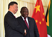 President Cyril Ramaphosa and  President Xi Jinping of the People's Republic of China.