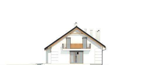 Nowinka VI z garażem i wiatą bliźniak A1-BL1 - Elewacja prawa