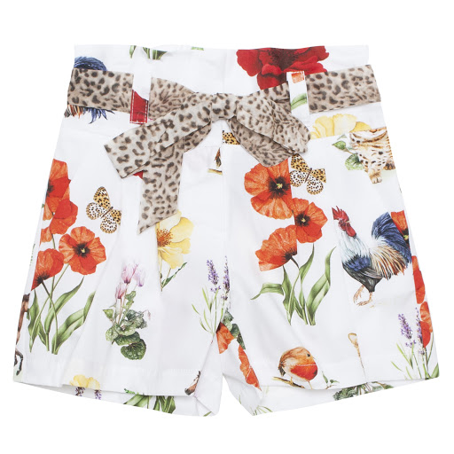 Thumbnail images of Monnalisa Floral Print Shorts
