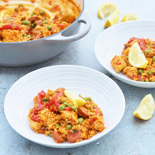 Easy One Pot Chicken and Chorizo Paella Recipe
