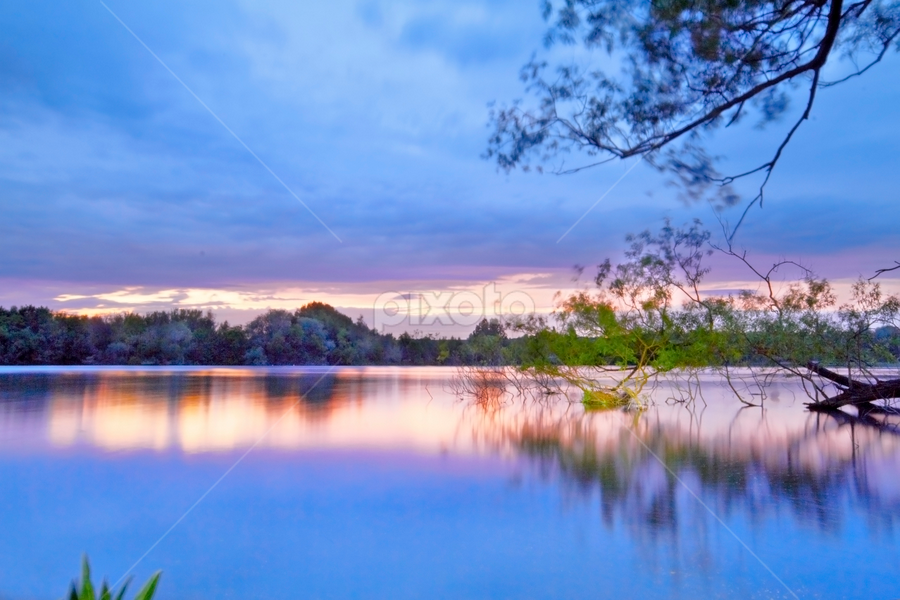 Baby Blue by Anna Milo - Landscapes Waterscapes ( calm, canon, nature, waterscape, blue, lake, evening )