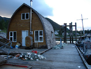 Photo: Lodging for Canadian marine fisheries employees in Klemtu.