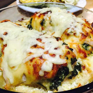 Spinach And Mushrooms Stuffed Chicken Breast.