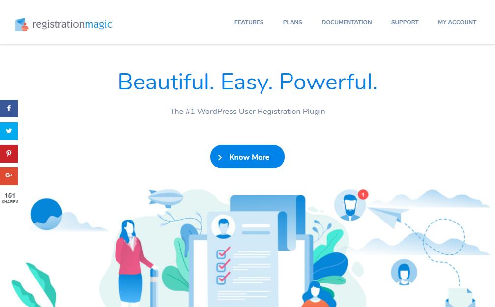 Register the magic wordpress plugin