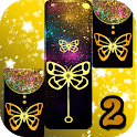 Gold Glitter ButterFly Piano Tiles 2018 icon