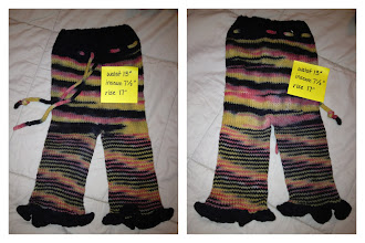 Photo: $18 Wool Pants. These were custom dyed and custom made but the black ran and the colors faded when lanolizing :( Still function well. They were halloween colors (orange, yellow, and black)
