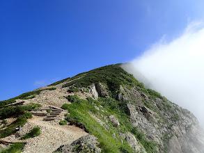 白岳への登り