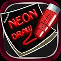 Sticky neon draw icon