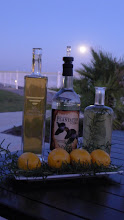 Photo: Specialty cocktails on the patio in the moonlight at the King and Price Resort.