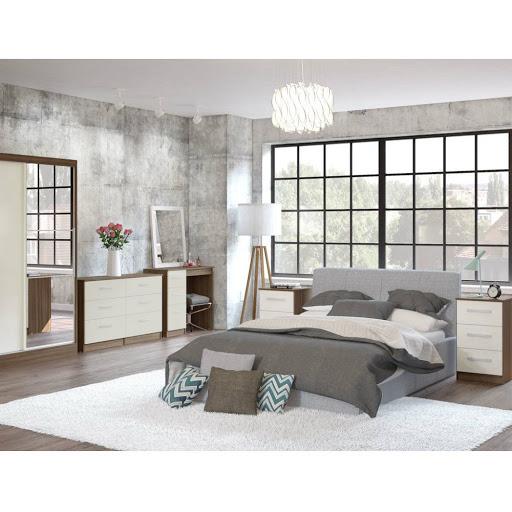 Birlea Lynx Bedroom Furniture Walnut Cream