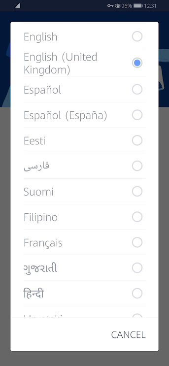Choose Facebook Language Choice Location