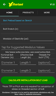 Bolt Preload Calculator- screenshot thumbnail