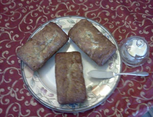 Warm Banana Bread And Creamy Butter, How Can You Go Wrong.