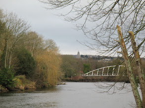 Photo: Mardyke Bridge and St. Anne's Shandon seen from Fitzgerald Park