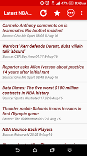 Latest NBA News - náhled